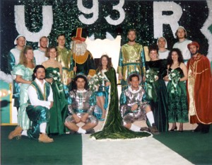 St. Pat and his court pose for a photo in 1993.