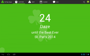 Download the St. Pat's Countdown app